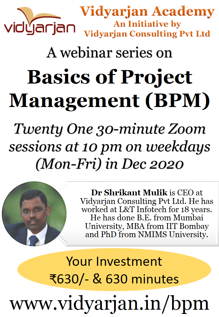 Webinar Series on Basics of Project Management
