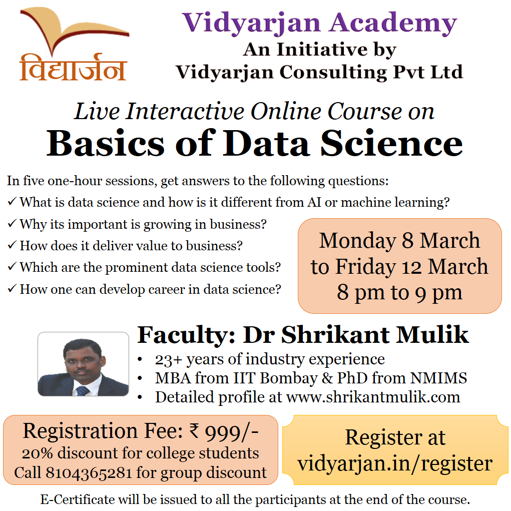 Basics of Data Science - 8 March